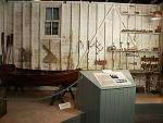 Half scale model of Turk's boatyard workshop